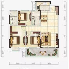 新汉都•和公馆B户型户型图