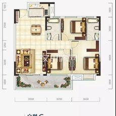 新汉都•和公馆C户型户型图