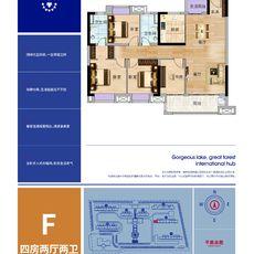 现代·森林国际城|北苑F户型户型图