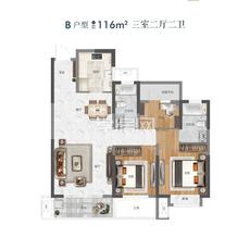 新城玺樾G1/G10/G11#B户型户型图