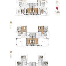 新城玺樾B1-B41#238㎡四厅别院户型图