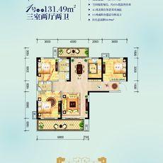 民邦·槐荫东岸2期3#楼1/8号房户型图