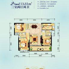 民邦·槐荫东岸2期3#楼2/7号房户型图