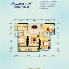 民邦·槐荫东岸2期3#楼3/6号房户型图
