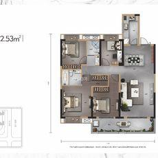 佳磐瑞府2#楼A2户型户型图