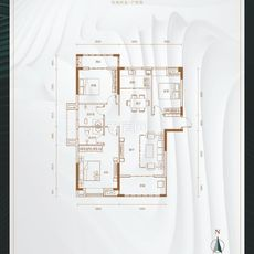 悦湖世家6#楼C户型户型图