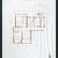 悦湖世家6#楼D户型户型图