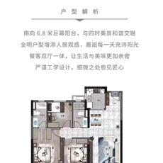 卓爾·潛江客廳C戶型戶型圖