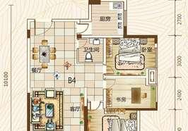 新城碧水園 毛坯小三房 中吭樓層 56萬出