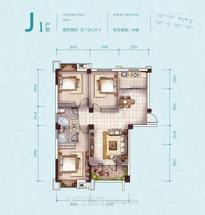 鑫龙·中央公园-1#楼J1户型户型