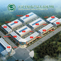 仙桃江汉平原农产品大市场鸟瞰图