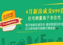 2017年漢川4月新房成交899套