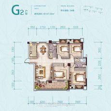 鑫龍·中央公園5#樓G2戶型戶型圖