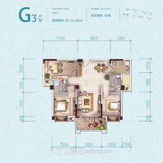 鑫龍·中央公園5#樓G3戶型戶型圖