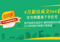 2017年漢川6月新房成交564套
