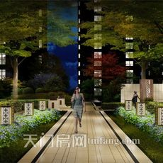 华西新城景观效果图