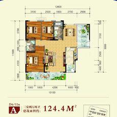 博大·君悦湾D6/D11 A户型户型图