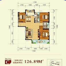 博大·君悦湾D6/D11 C户型户型图