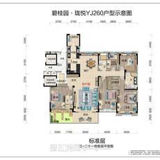 碧桂园·珑悦--YJ260奇数层