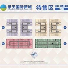 天门承天国际新城待售区铺位图户型图