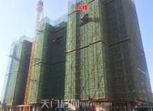 北湖轩4月工程进度:1#楼已经建至17层