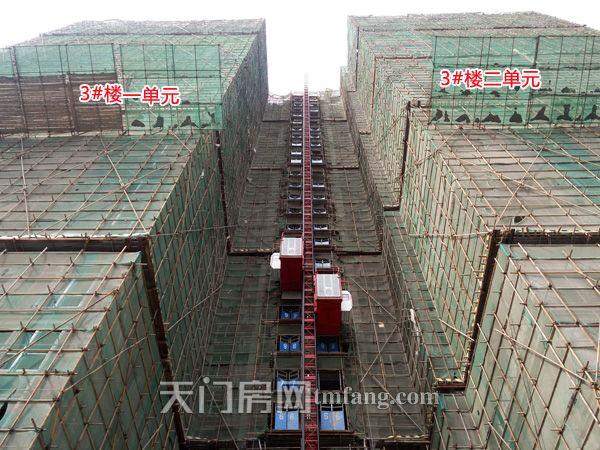 西湖阳光壹号4月工程进度:3#楼进行内部隔断