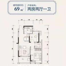 中大学府69m²户型图