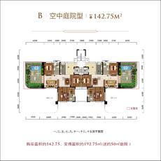 太子湖国际社区--B'空中庭院型