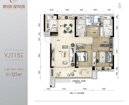 碧桂园·星悦湾3/6/7/8/9/10/11#楼YJ115