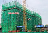 碧水園·錦城5月工程進度:2號樓建至第8層!