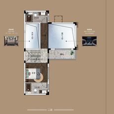 奥园天河书院建面约143㎡户型户型图
