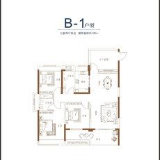 碧溪天地3/5/7/8#B-1户型户型图