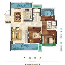 楚霖·鼎观世界五期丨紫境3/7#楼B户型户型图