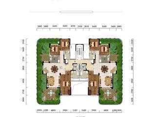 太子湖国际社区C'空中别墅型户型图