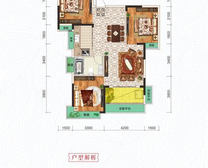 港锦新城14#楼C2户型