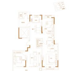 崇文广场·玖璋院11#楼建面约135㎡户型图