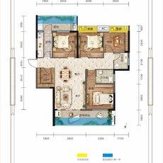 万锦城G13号楼D3户型户型图