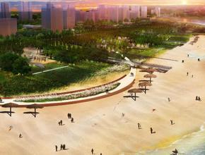 仙桃江滩公园一期明年底完工,五彩花田、文化雕塑、还有阳光沙滩....