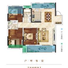 楚霖·鼎观世界五期丨紫境2/6#楼C户型户型图
