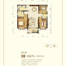 中天国际C户型 122.77㎡户型图