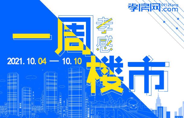 2021年10月04日到10月10日 孝感新房成交315套!